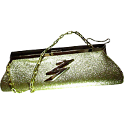 Glitzy, Glittery Golden Vintage Embellished CLUTCH Purse ~~ Vintage Finery And Perfection With Fresh Pizazz !!