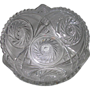 Vintage Cut Crystal Aztec Pinwheel & Hobstars Design Bowl ~ Such A Sophisticated Way To Serve Punch, Desserts, Fruit Or Other Pleasures