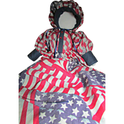 Patriotic FACELESS Cloth Doll ~ Hand Crafted For Small Maine Town's SesquiCentennial Celebration ~