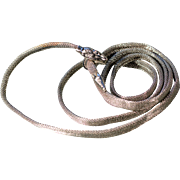 Art Deco Silverplate Snake Belt Necklace Bracelet French Art Deco Jewelry