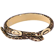 Vintage Art Deco Galalith Snake Wrap Bangle 1920s High End French Costume Jewelry