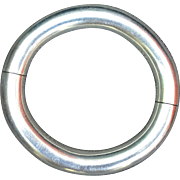HERMES Vintage Silver Bracelet Stamped 925 And Labelled