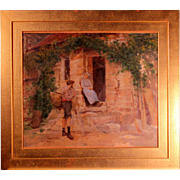 Original Oil French Painting 19th Century Signed L. REMAREST