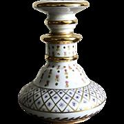 """Antique """"Porcelaine De Paris"""" Hand Paint Floral Perfume Flacon Collectibles"""