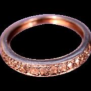 Art Deco 18 karat White Gold Diamond Ring 1930's French Jewelry