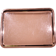 CRISTOFLE Vintage 60's Silver Plated Cocktail Tray In Its Original Box