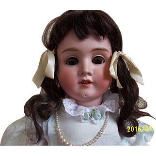 "23"" German Bisque Mystery Doll"
