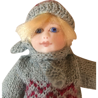 Tiny bisque Roche doll Tim