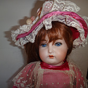 "Antique 18"" Bisque Head mystery doll Marked ""S"""