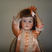 German Bisque Head Doll Marked GB
