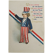 Young America Ellen Clapsaddle Embossed Patriotic Postcard