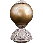Chinese mandarin brass bead hat finial 19th century