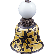 Chinese Mandarin White Peking glass hat finial 19th century