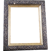 Gilt Victorian frame with ornate floral molding late 19th century