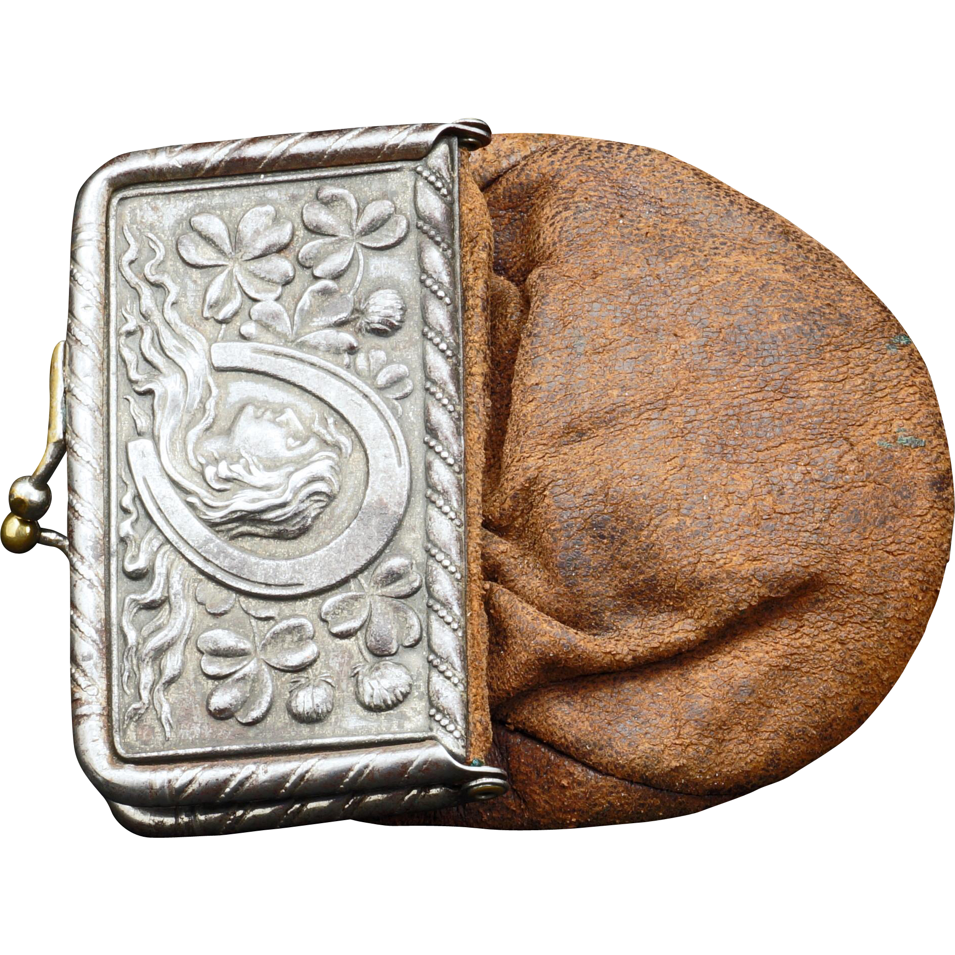 Victorian silver plate and leather advertising coin purse for Transparent piggy bank money box