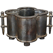 Chinese Bronze Quadrafoil Form Censer Xuande Mark c 1900