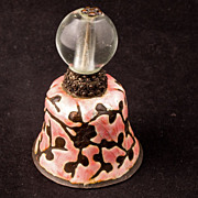 Chinese mandarin hat finial with a clear bead made into a ball with pink enamel – late 19th century