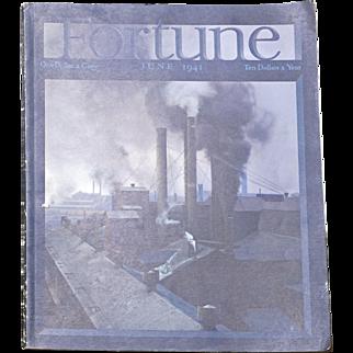 Vintage Fortune Magazine June 1941