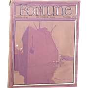 Vintage Fortune Magazine October 1933