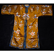 Copper-colored Chinese silk women's robe circa early 20th century