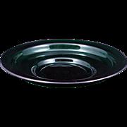 Chinese emerald green Peking glass shallow bowl circa 1900