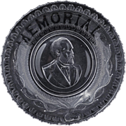 President James A Garfield large memorial EAPG plate late 19th century