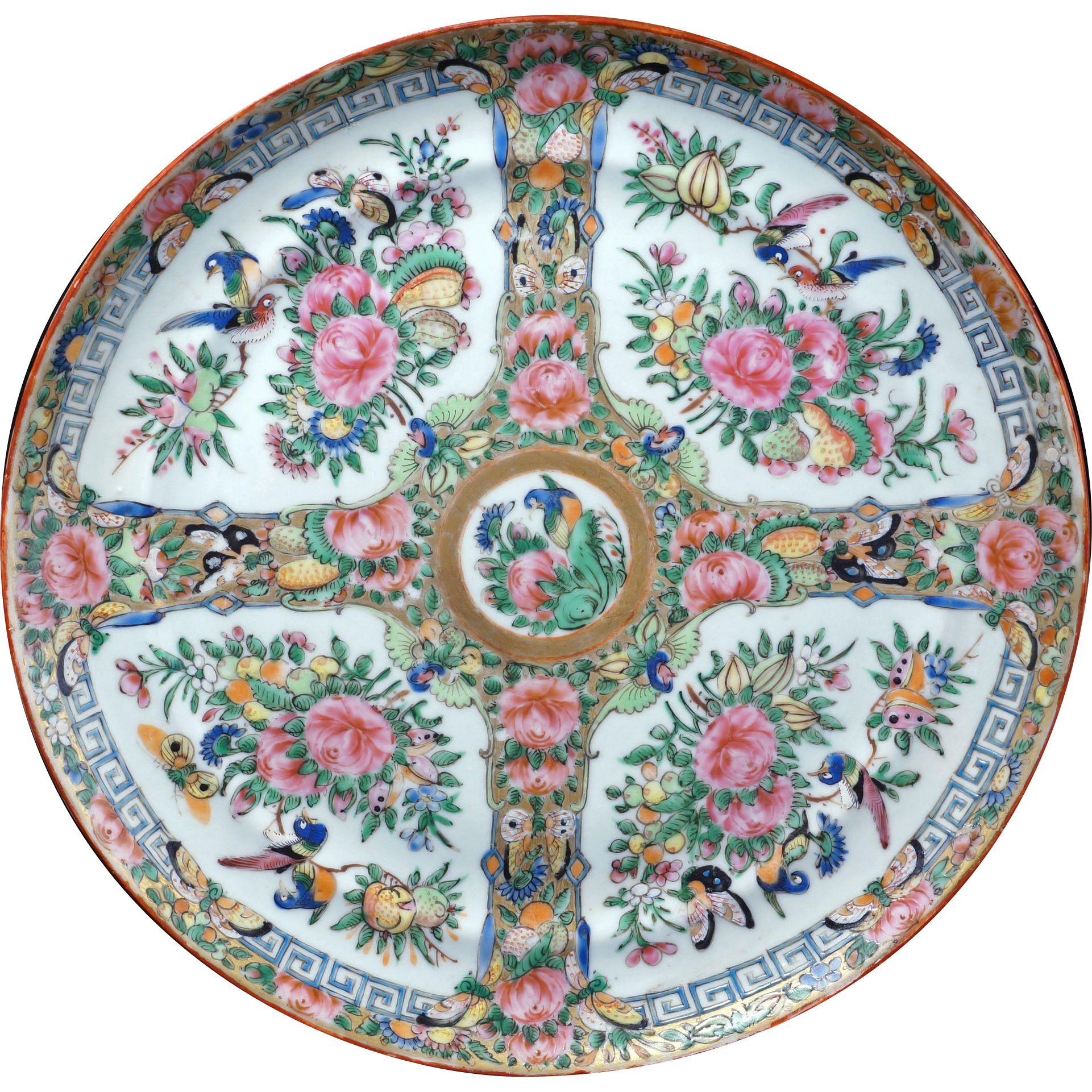 Chinese Porcelain Plates : Large chinese porcelain rose medallion plate th