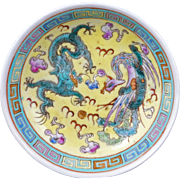 Chinese Famille Jeune porcelain saucer with a reign mark early 20th century