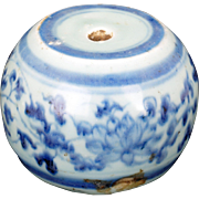 Chinese Ming blue and white porcelain joss stick holder 15th/16th century