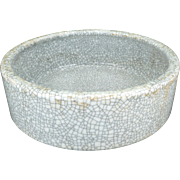 Chinese white crackle glaze ware brush washer – Early 20th C Republic era