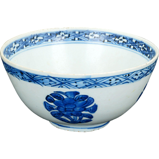 Chinese Wanli blue and white porcelain bowl with peony design late 16th century