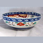 Antique Japanese Handpainted Imari Porcelain Bowl ca. 1900