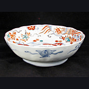 Japanese Porcelain Imari bowl with Scalloped Edge 19th Century - Red Tag Sale Item