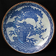 Japanese Transferware Igeza Porcelain Charger with three winter friends designra