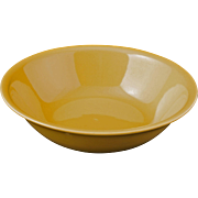 Mid-century Vernonware acacia yellow ceramic salad/cereal bowl Casual California pattern c 1953