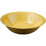 Mid-century Vernonware medium acacia yellow Ceramic serving bowl Casual California pattern c 1953