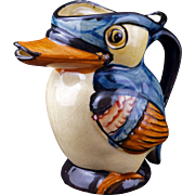 Kookaburra bird ceramic pitcher circa 1940