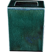 Chinese ceramic green glazed rectangular pillow vase circa 1900