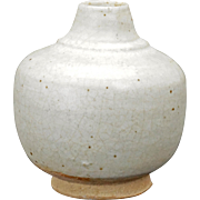 Small Thai ceramic jar with white glaze circa 1400