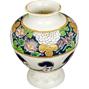 Japanese Gosu blue Satsuma vase Meiji period circa 1900