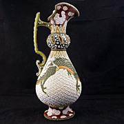 Japanese Ceramic Moriage Ewer ca 1910
