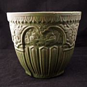 Renaissance Revival green glazed jardiniere - Early 20th century