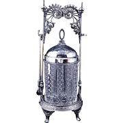 Victorian Eastlake design pickle castor by Wilcox silver plate Co. late 19th century