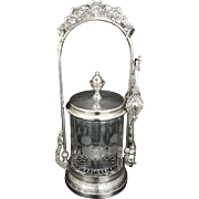 Victorian silver plate pickle castor by Wilcox late 19th century