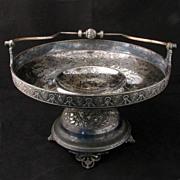Meriden Silver plate Renaissance Revival Victorian Cake Basket - Red Tag Sale Item