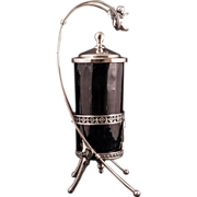 Victorian silver plate pickle castor by James Tufts with cupid circa 1870