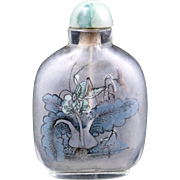 Chinese glass painted snuff bottle circa early 20th century