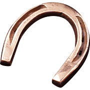 Vintage hand-hammered cast iron Horseshoe with copper finish