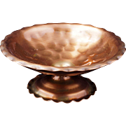 Gregorian Hand hammered Copper candy dish #311