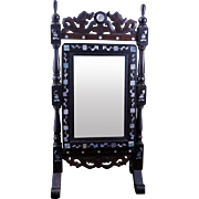 Mirror with mother of pearl on stand 20th century